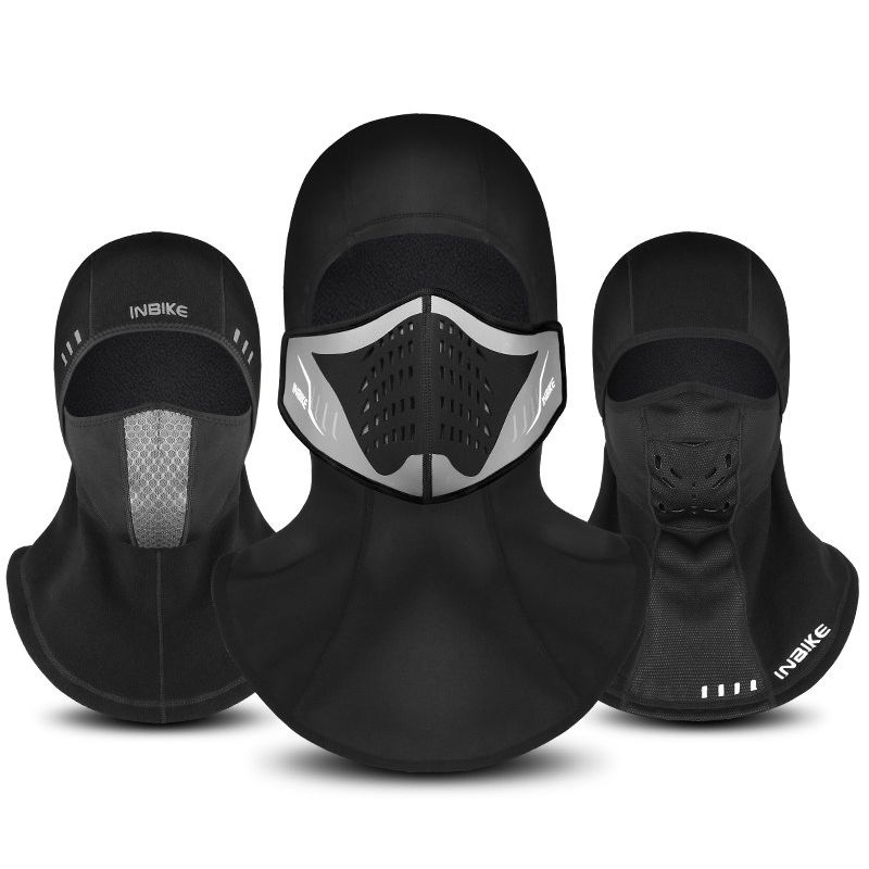 Winter Bicycle Face Mask Cap Ski Bike Mask Face Thermal Fleece Snowboard  Shield Hat Cold Headwear 562af2a00be