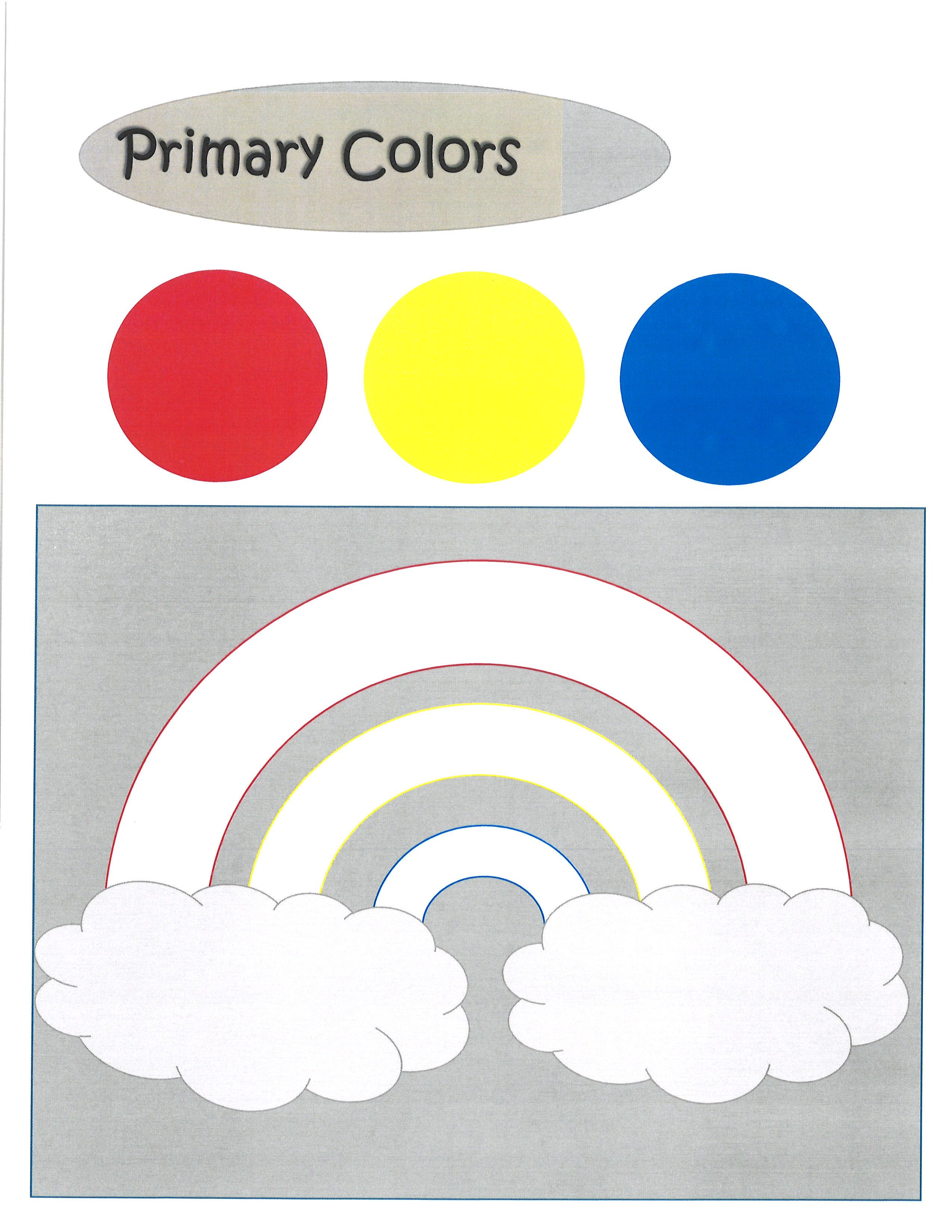 Primary Color Worksheet And Coloring Page