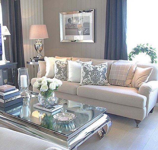 Mirrored Coffee Table Living Room Decor Cozy Living Room Designs Glam Living Room