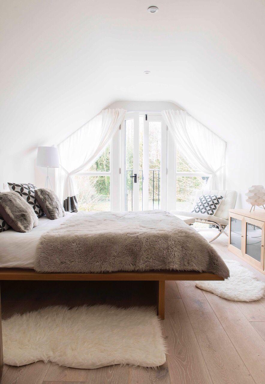 The master bedroom overlooking the garden The