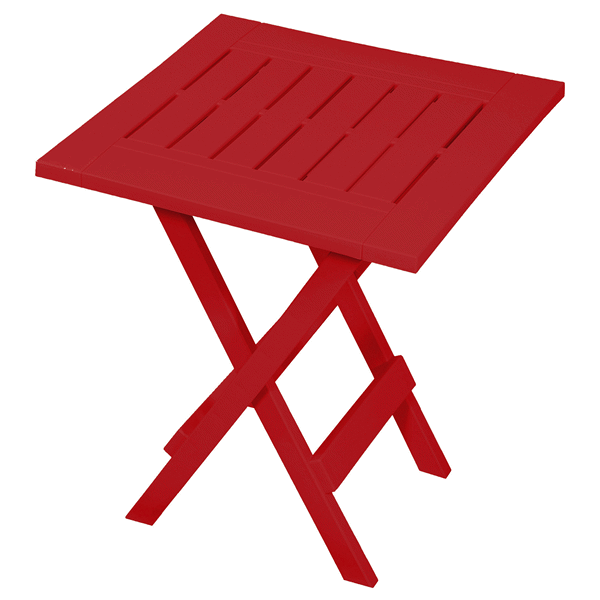 Gracious Living Folding Side Table - Red   Patio side ...