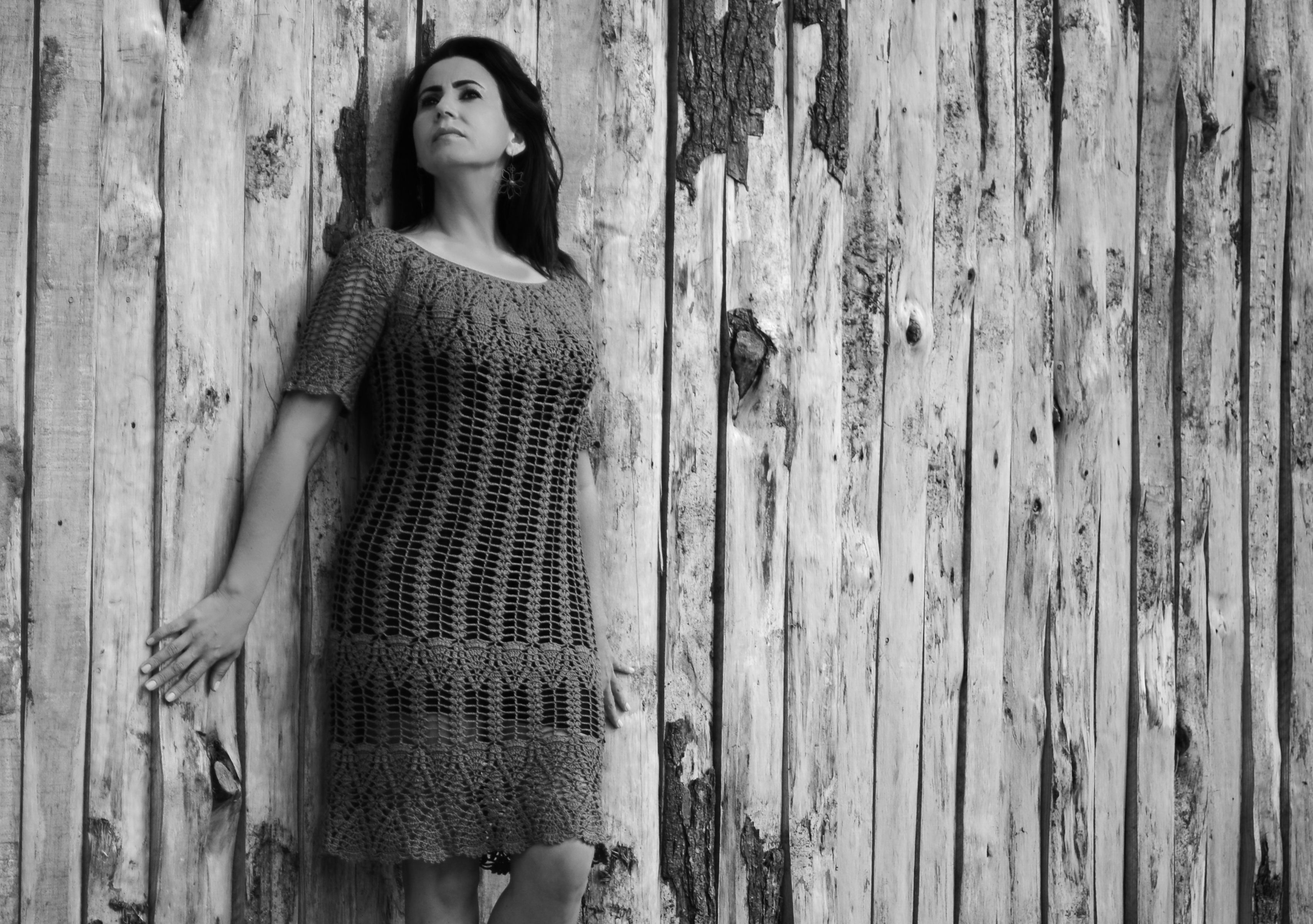 Vestido de croché. Foto: Júnior Scoz