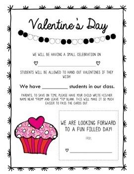6f9c23c695ca94733ee16a18bc5e16b4 Valentine S Party Letter To Parents Template on for party, box project, ice cream party classroom, free printable,