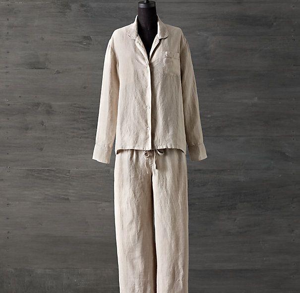 Stonewashed Belgian Linen Pajamas | palette | natural | Pinterest ...