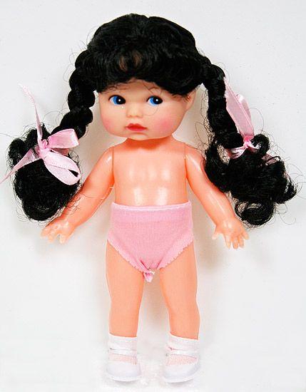 Vintage Plastic Doll  Black Craft Doll