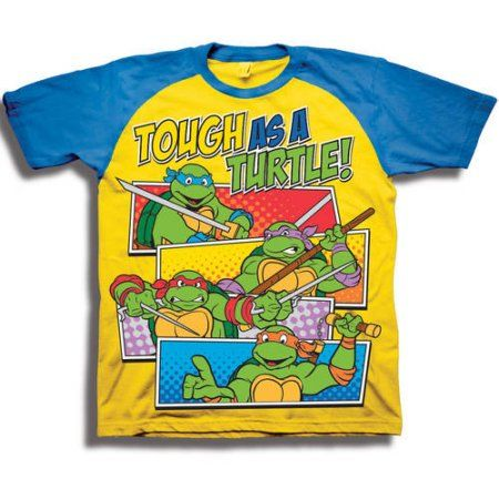 Boy/'s Kelly Green Teenage Mutant Ninja Turtles Boys Graphic T-Shirt Large