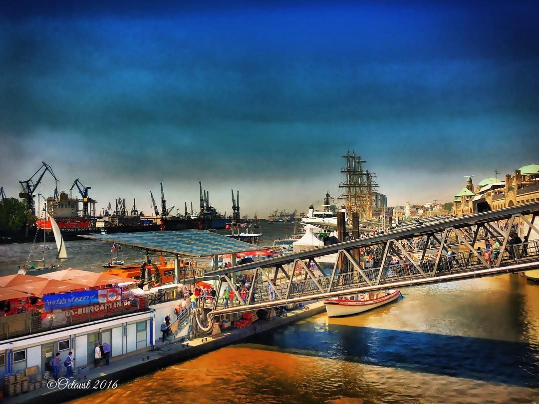 HAMBURG PORT ANNIVERSARY Germany Photo by @Octavst #octavst #hamburg_octavst Proud Member of @HDR_DR @TV_HDR @HDR_PROFESSIONAL @IG_HDR_DREAMS @HDRZONE @TGIF_HDR @HDR_EUROPE Thank U for Like & Follow! If you want to watch more about my traveling check out the link in my Bio. #hafengeburtstag #sky #hafengeburtstag2016 #portofhamburg #bridge #landungsbrücken by octavst