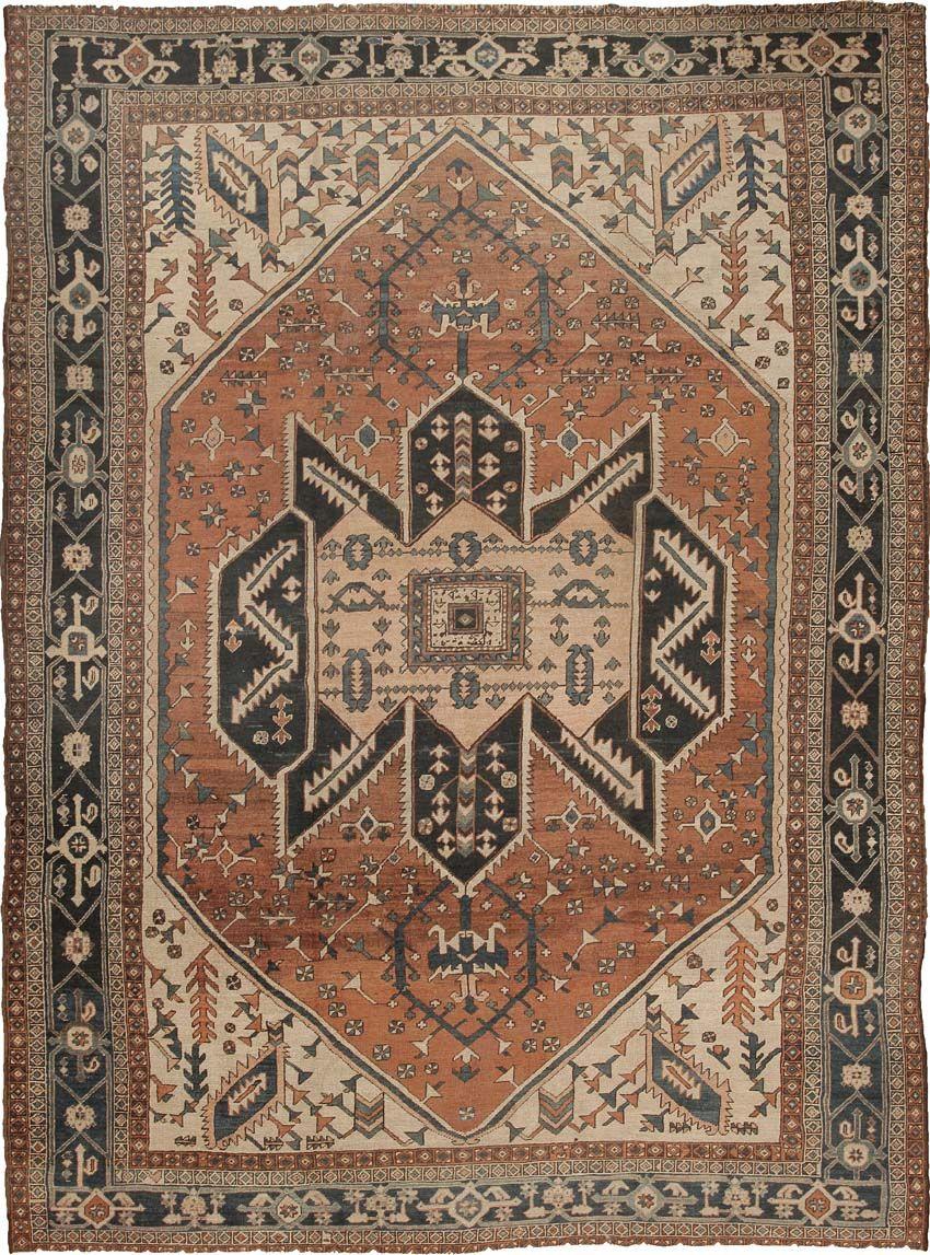 Large Room Size Antique Persian Heriz Rug 44162 Nazmiyal Persian Heriz Rug Heriz Rugs Rugs