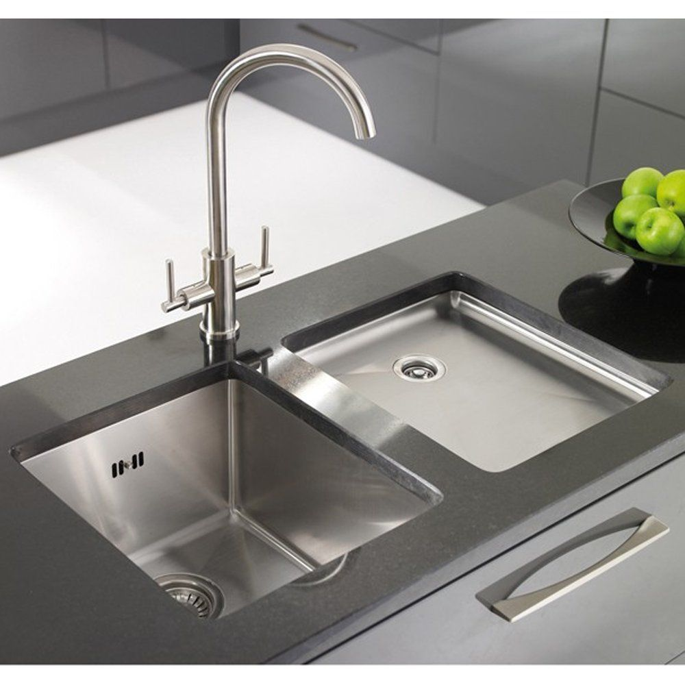Astracast 1.0 Bowl Brushed Stainless Steel Undermount Kitchen Sink U0026 Grid