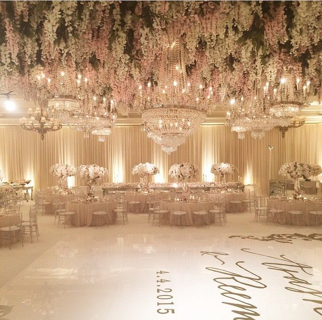 Incredible blush, white, and gold design by White Lilac ...
