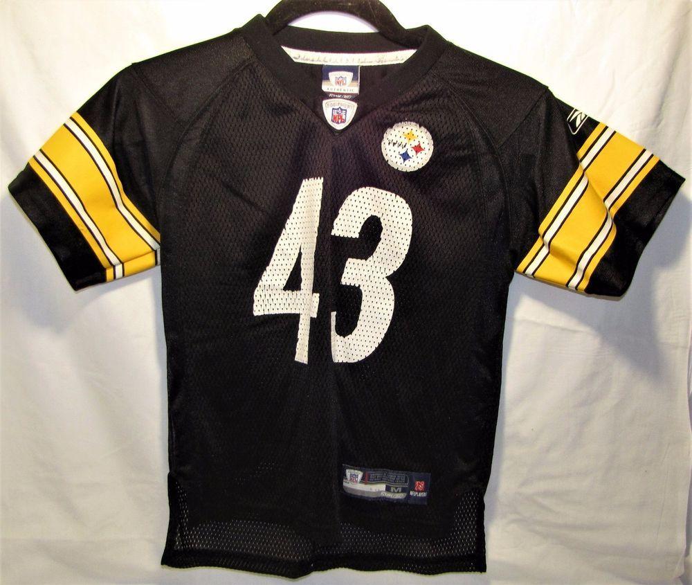 9a20cb76e NFL PITTSBURGH STEELERS KIDS JERSEY SIZE MEDIUM 5-6 TROY POLAMALU  43  REEBOK  Reebok  PittsburghSteelers