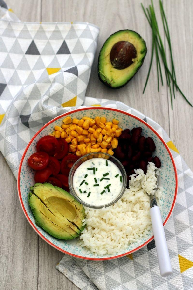 buddha bowl fa on mexicaine salade de riz recette pinterest salade recette et salade de riz. Black Bedroom Furniture Sets. Home Design Ideas