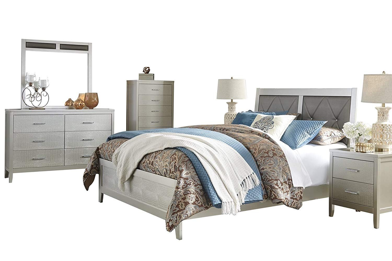 Ashley Olivet 6PC Bedroom Set Full Panel Bed Two
