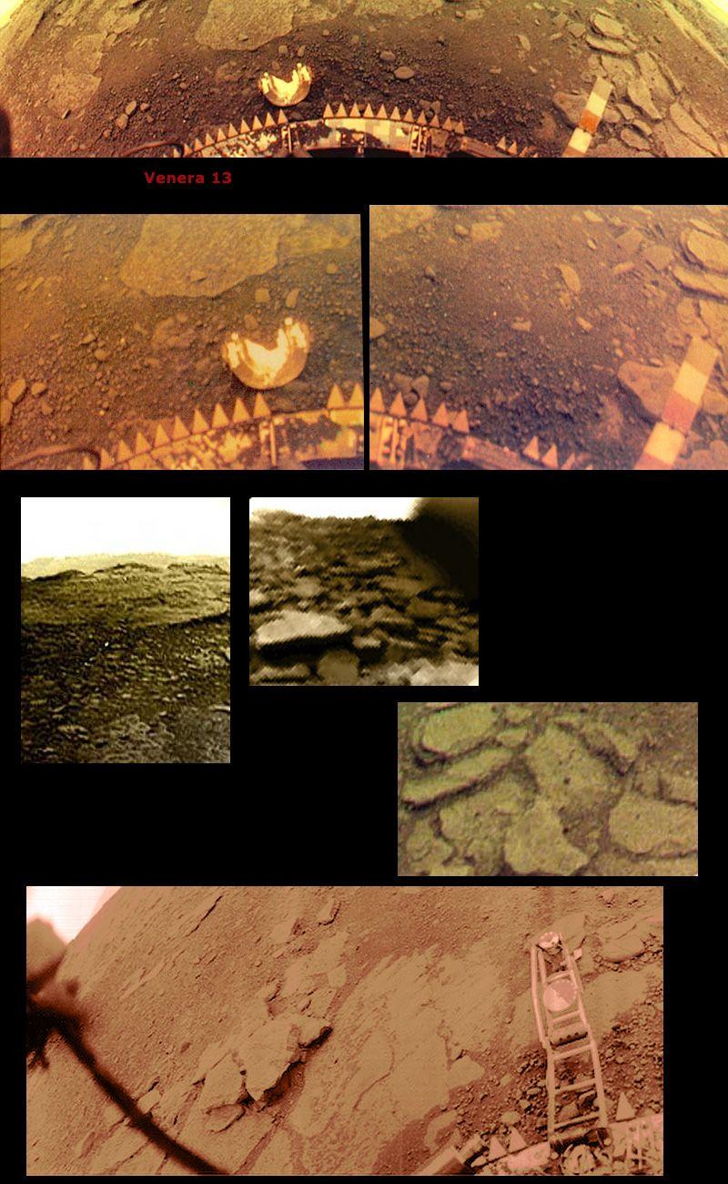Panoramatic photo of venus surface taken by soviet lander venera