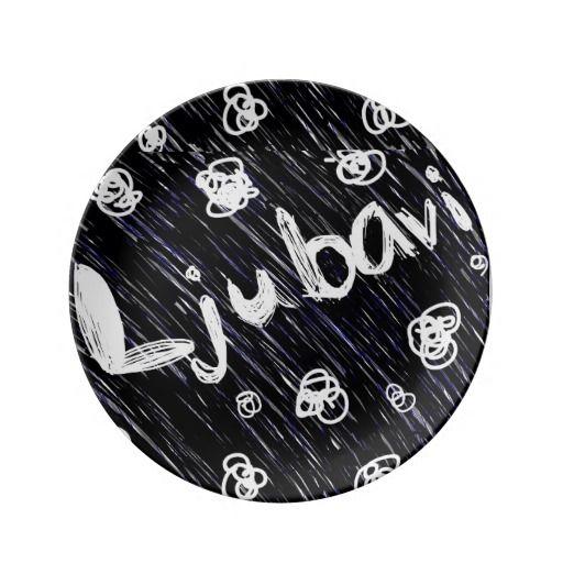 Black and white decorative plate with Ljubavi hand drawn. Ljubavi means u0027loveu0027 in  sc 1 st  Pinterest & Black and white decorative plate with Ljubavi hand drawn. Ljubavi ...