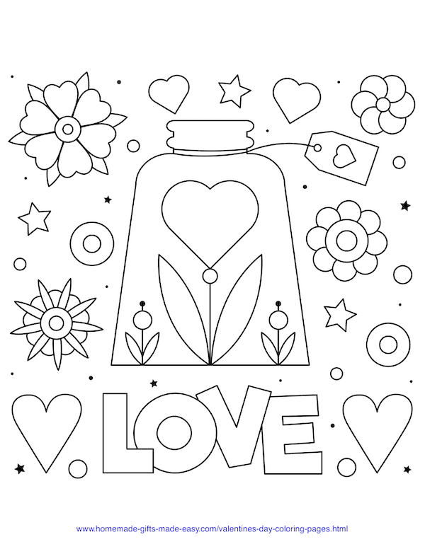 50 Free Printable Valentine's Day Coloring Pages Valentines Day Coloring  Page, Valentines Day Coloring, Valentine Coloring Pages