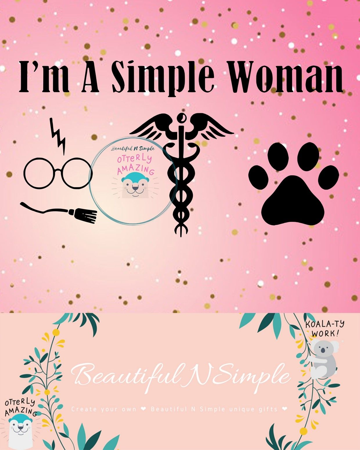 Download I'm A Simple Woman, Harry Potter, Nurse, Dog SVG DXF File ...