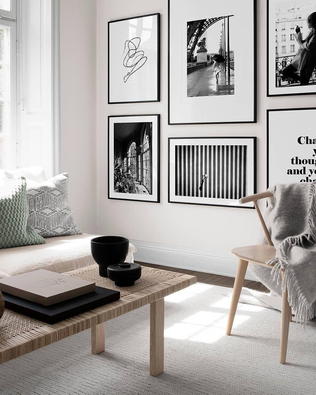 Courtney Schrank Design Studio On Instagram Gallery Wall Scandinavian Neutrals And Minimalist Design Csdsinspo Desenio Minimalist Design