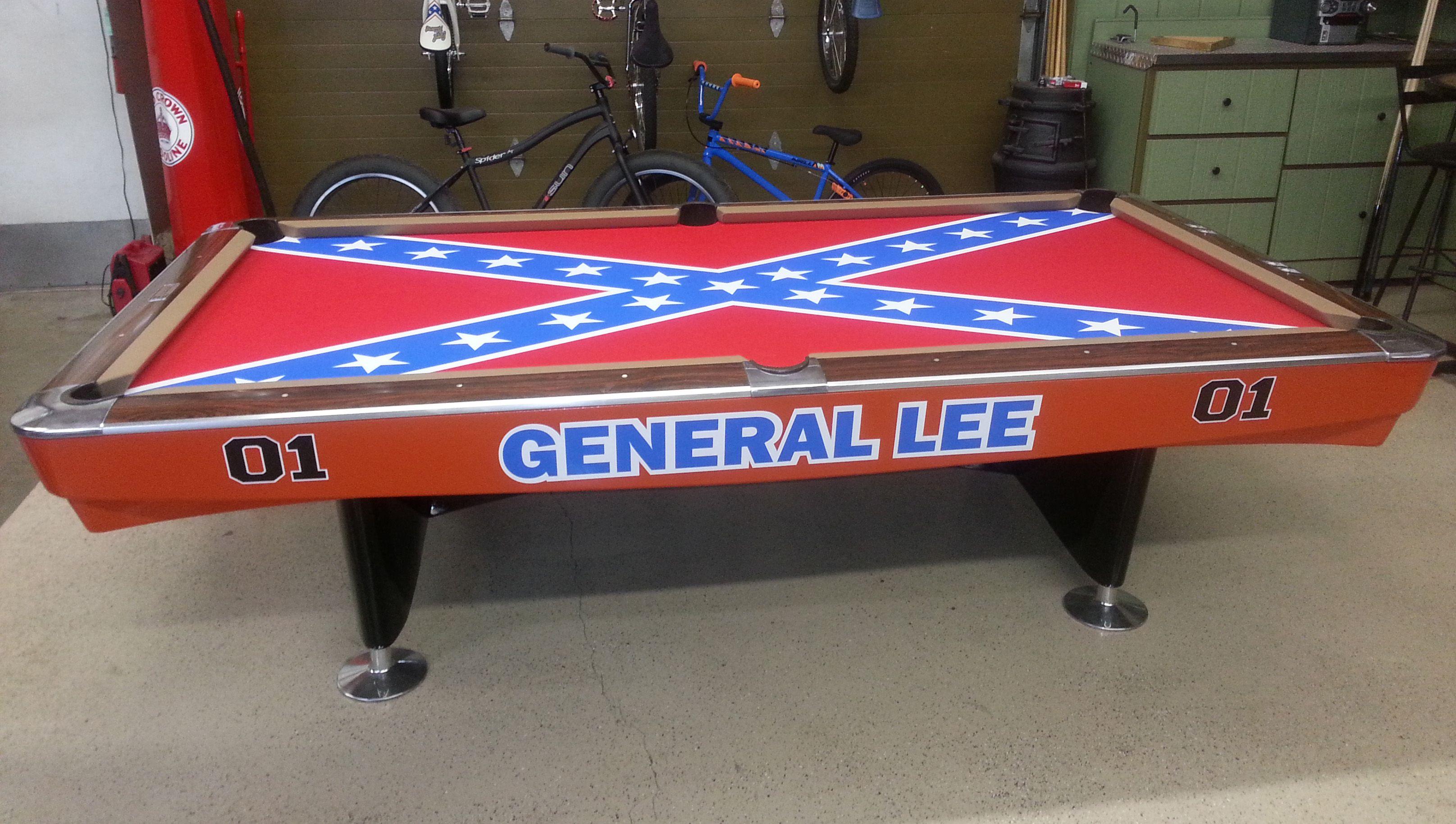 Brunswick Gold Crown Tournament Size Pool Table General Lee - Tournament size pool table