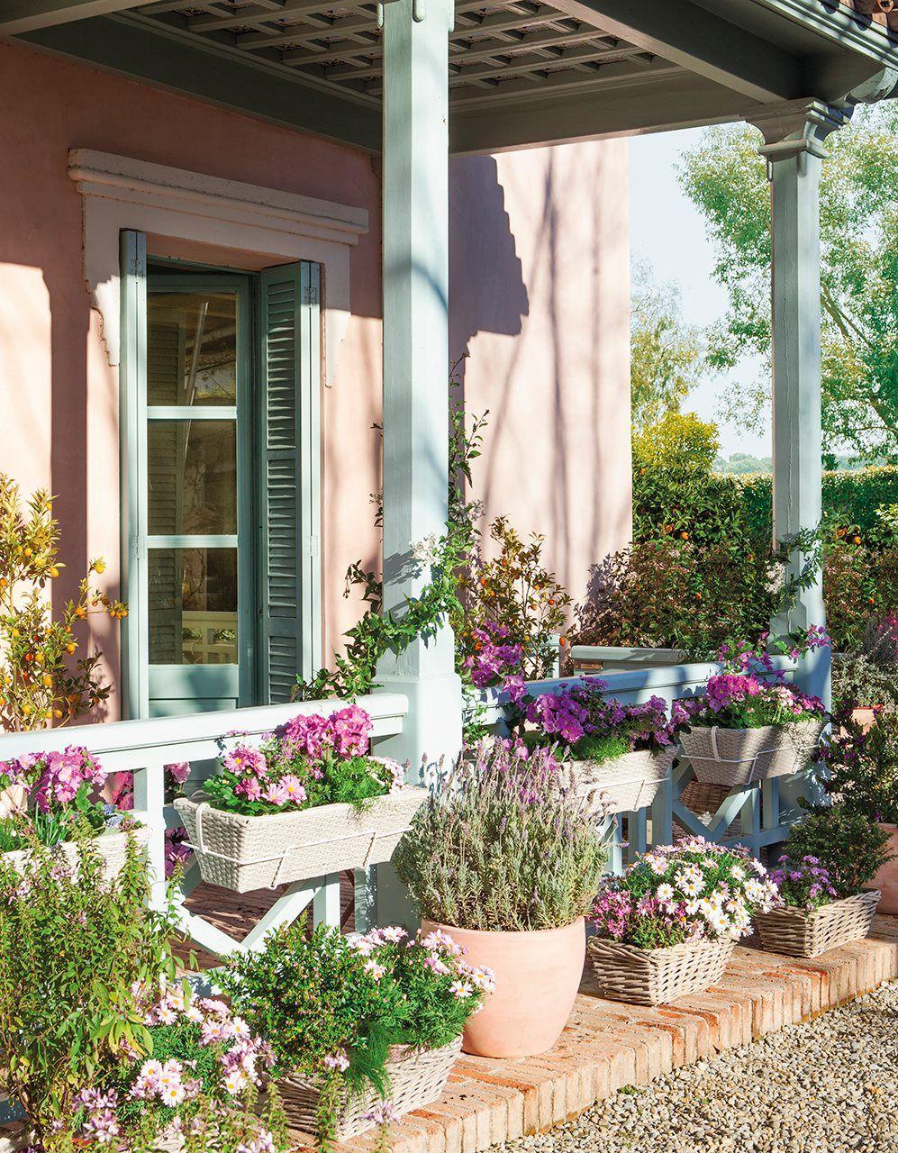 La primavera se planta en tu balc n exterior con encanto - Plantas jardineras exterior ...