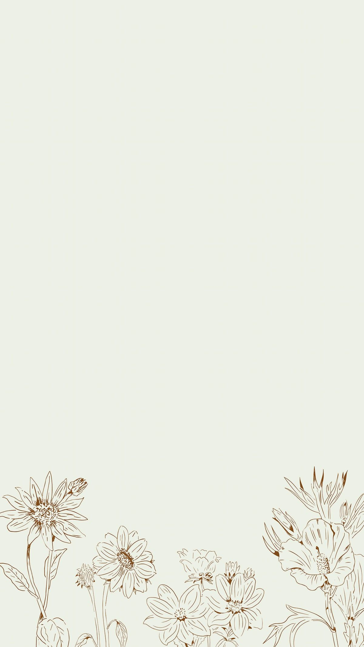 Download premium vector of Hand drawn wildflowers patterned mobile phone wallpaper vector by Te about tulip wallpaper, sunflower, wildflower illustration, wildflower pattern, and instagram story 2042039