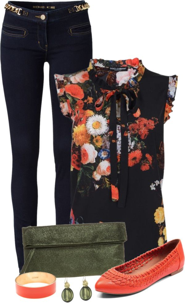 """""""Olive & Coral"""" by capehler on Polyvore"""