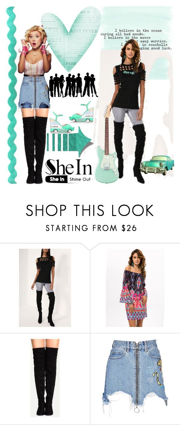 """Shein"" by vaslida ❤ liked on Polyvore featuring Marcelo Burlon and Kate Spade"
