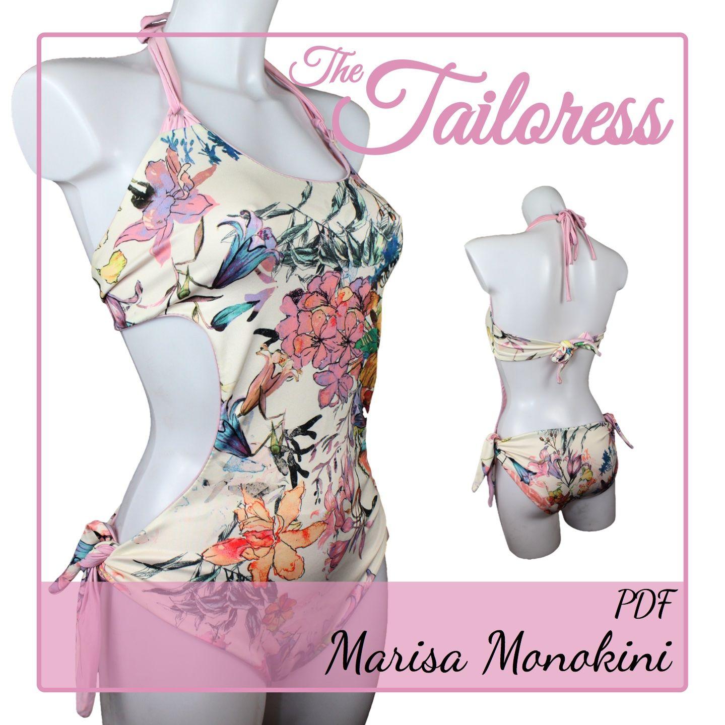 Marisa Monokini PDF Sewing Pattern Swimsuit Bathing Suit Swimwear ...