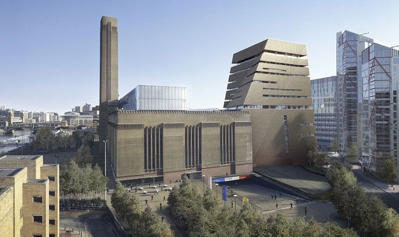 Modern Architecture Uk tate modern extensionherzog & de meuron in london, england, uk