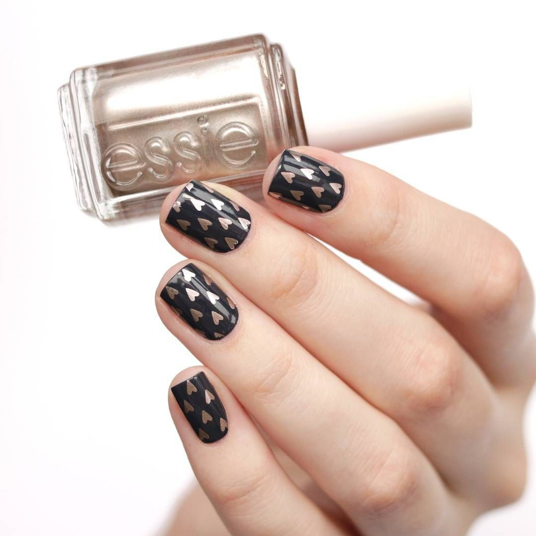 A twist on a typical Valentine\'s Day Recreate this nail art look ...