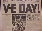 VINTAGE NEWSPAPER HEADLINE~WORLD WAR 2 NAZI ARMY SURRENDERS VICTORY V-E DAY WWII - Army, HEADLINE~WORLD, NAZI, Newspaper, SURRENDERS, VICTORY, Vintage, WWII