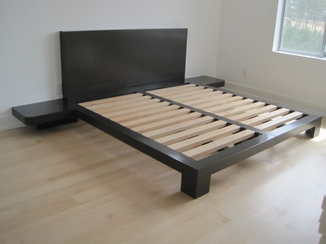 Custom Eco Friendly Non Toxic Platform Bed King Size Custom