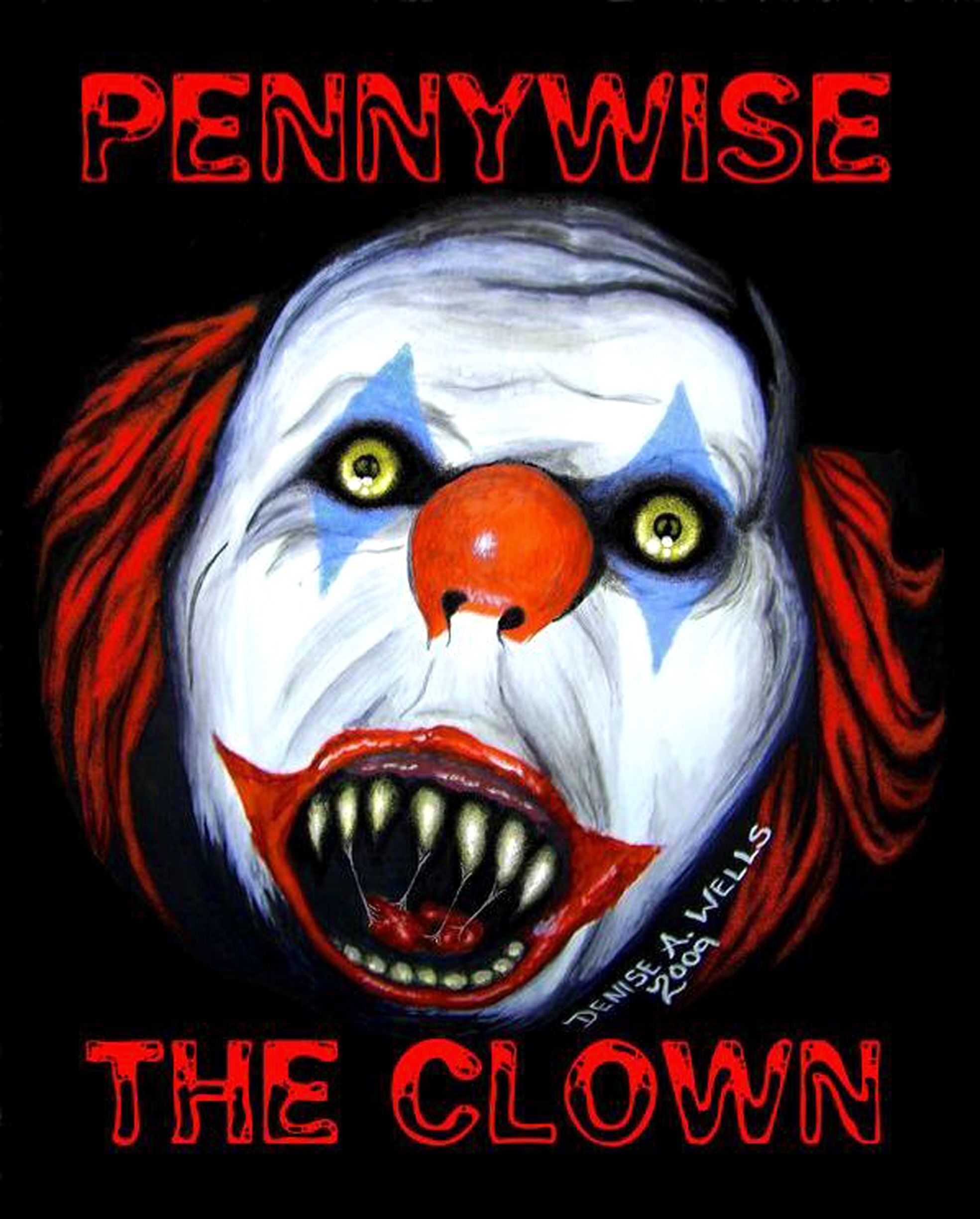 Scary Pumpkin Painting Pennywise The Dancing Clown From The Horror Movie It By Stephen