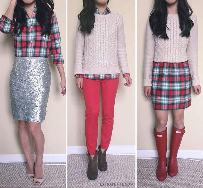 Casual Christmas Party Outfit Ideas Part - 33: Plaid, Bow + Sequins // Holiday Office Party Outfit Ideas