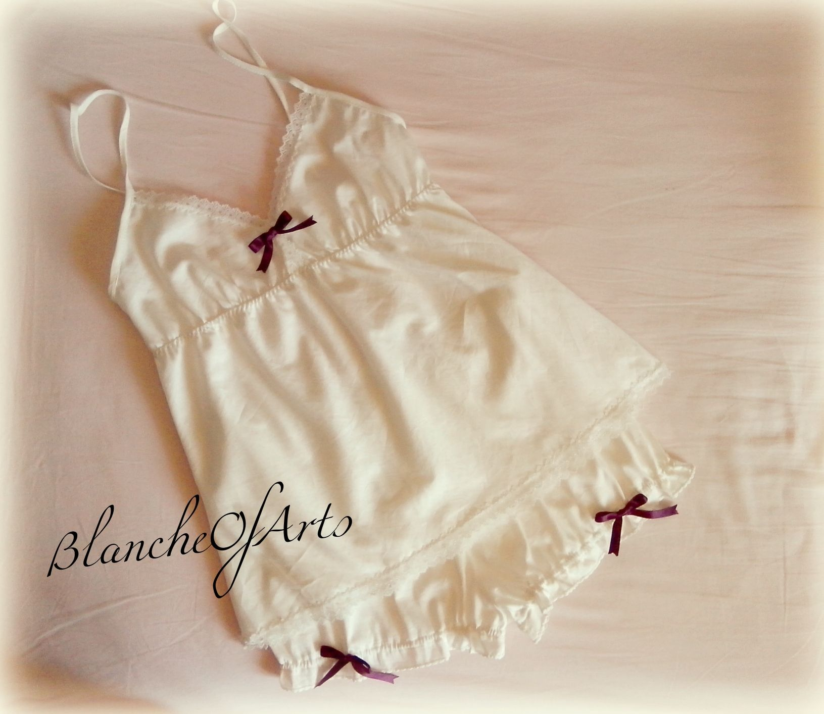 Ivory White Retro Babydoll And Bloomers