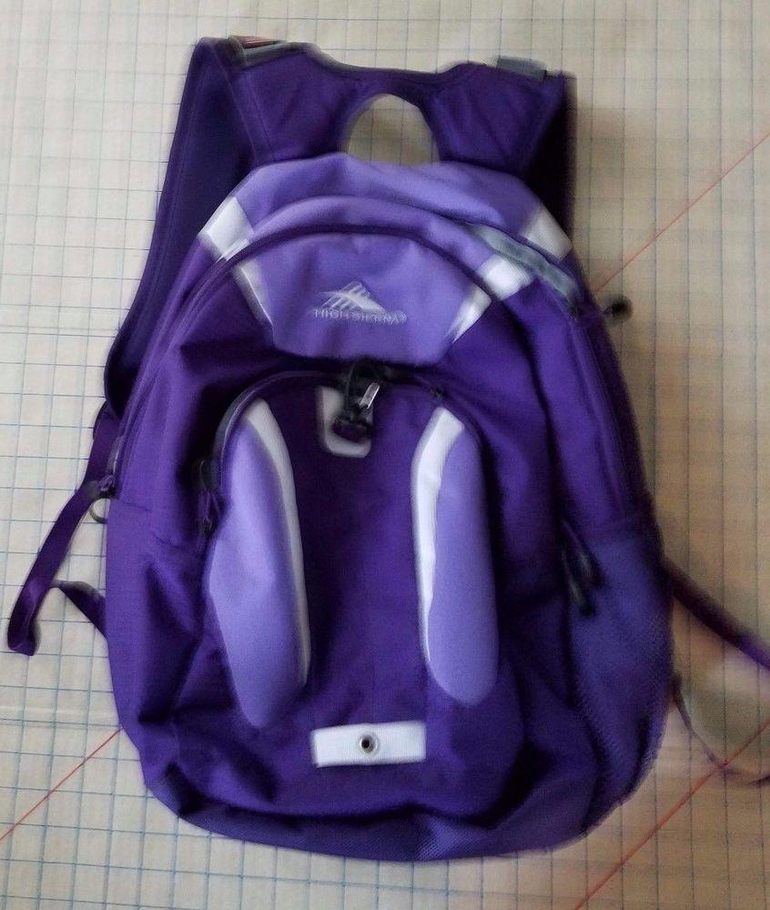 580eca3f21c High Sierra Riprap Lifestyle Backpack Padded Laptop Sleeve Purple   HighSierra  Backpack