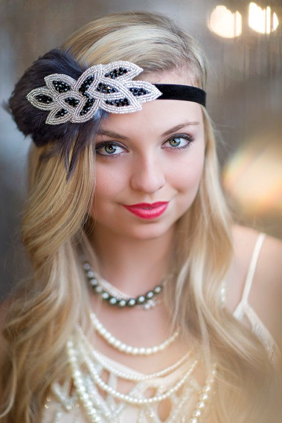 new years eve party headband 1920 39 s headpiece pewter. Black Bedroom Furniture Sets. Home Design Ideas