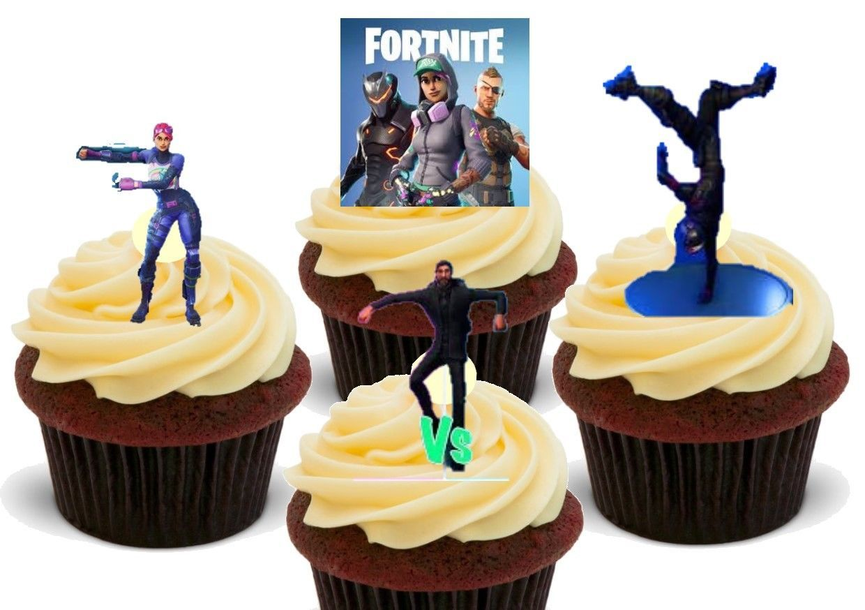 Fortnite Dancing Dancers Mix 12 Novelty Edible Cake Toppers