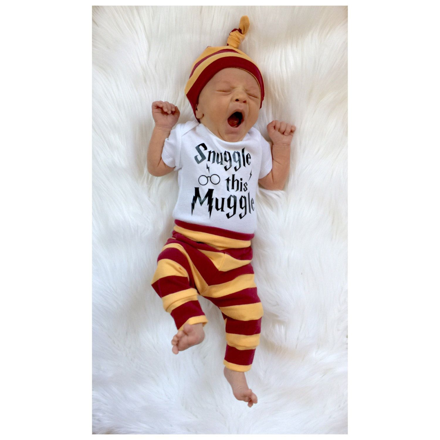 Baby boy ing home outfit harry potter by PinkPineappleCouture