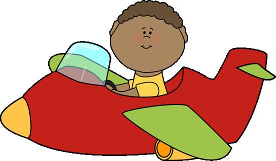 Airplane kid. Flying an clip art