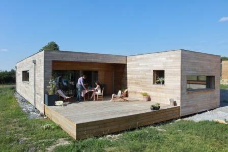 Pin by eve on Maison ossature bois toit plat Pinterest House - maison bois en kit toit plat