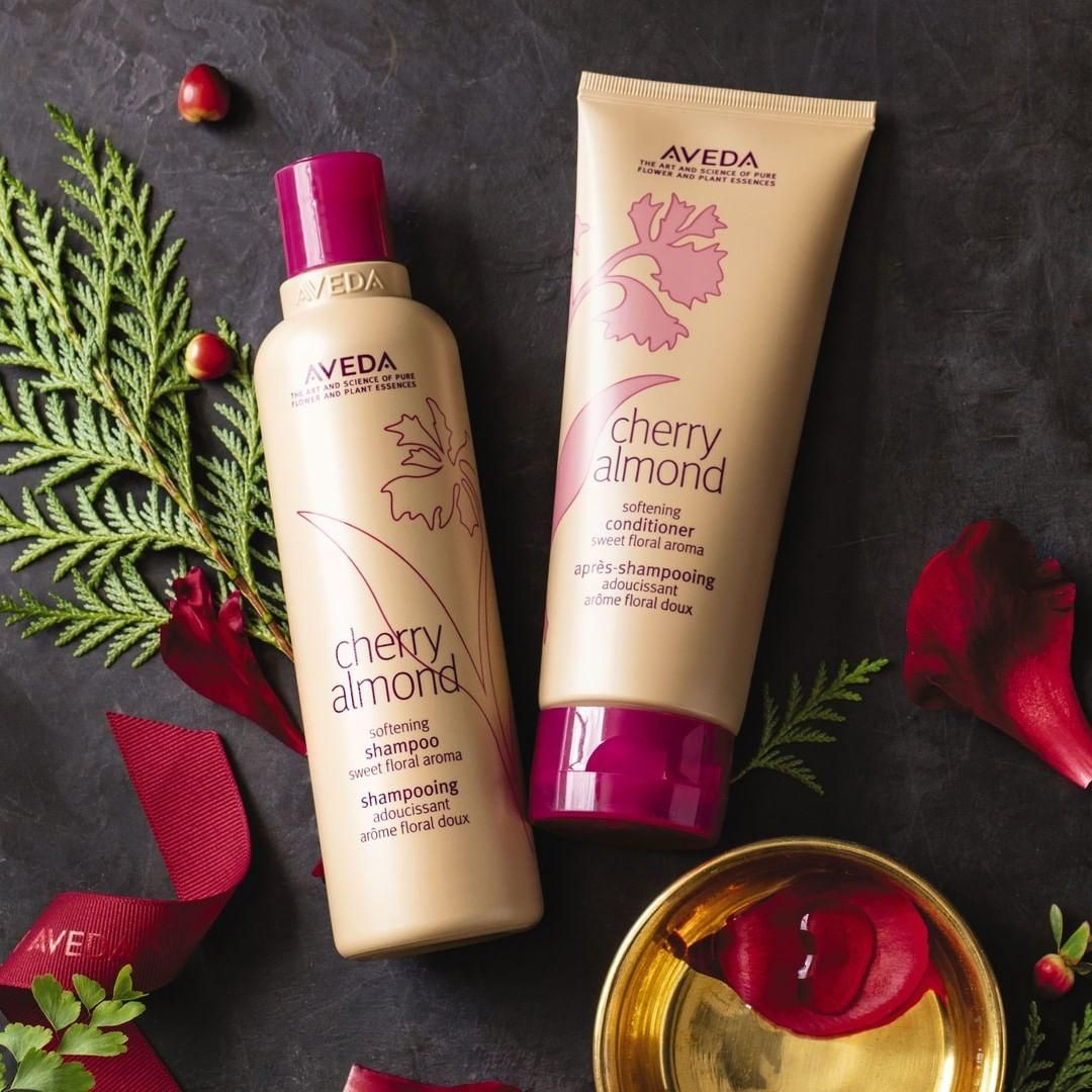 10e4bd16681 Need holiday gift ideas for coworkers? Family? Yourself? You can't go wrong  with the sweet aroma of Aveda's Cherry Almond shampoo and Conditioner.