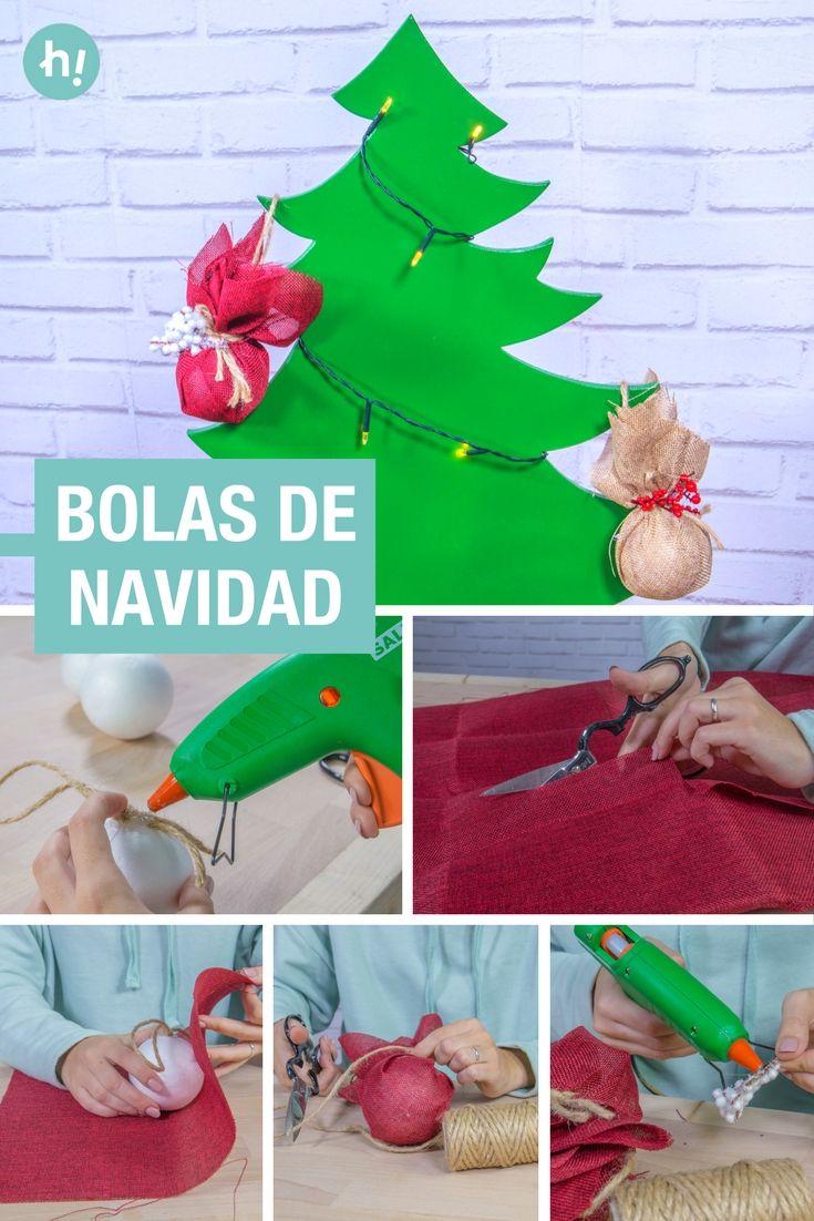 Cómo hacer bolas de Navidad caseras | Bolas de navidad caseras ...