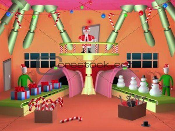Fabrica De Juguetes Santa Claus Juguetes Navidad Jugueteria