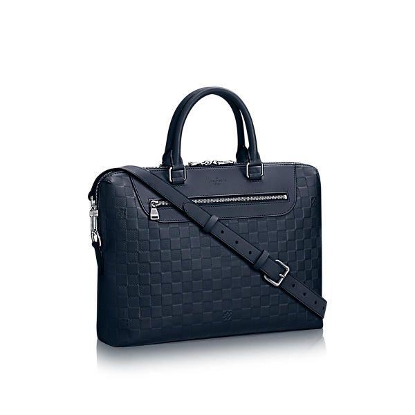 LOUIS VUITTON Porte-Documents Jour. #louisvuitton #bags #shoulder bags #leather #lining #metallic #