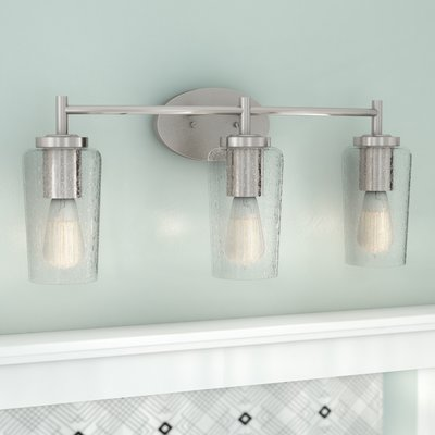 Latitude Run Ellenton 3 Light Vanity Light Vanity Lighting Bathroom Vanity Lighting Vintage Light Bulbs