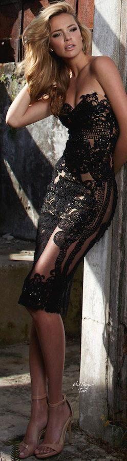 Black #lace dress