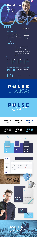 Branding Pulse Line Brandbook Magno Web Design Layout Blue Marca Website Design Layout Brand Book Web Design