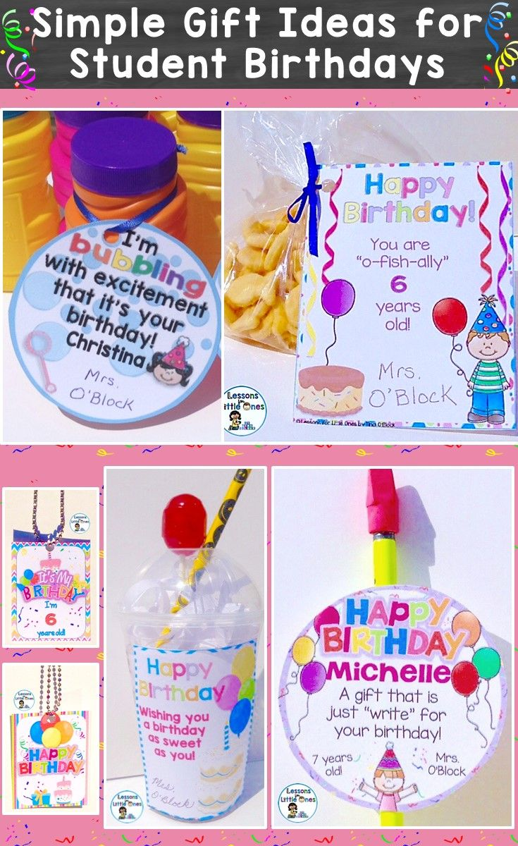 Simple Inexpensive Ideas For Memorable Student Birthday Gifts Make Your Students Feel Extra Special On Their
