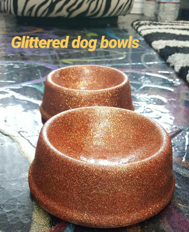 Glittered dog bowls glitter my world dog bowls diy